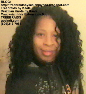 Tree Braids- with wavy human hair Front2251.
