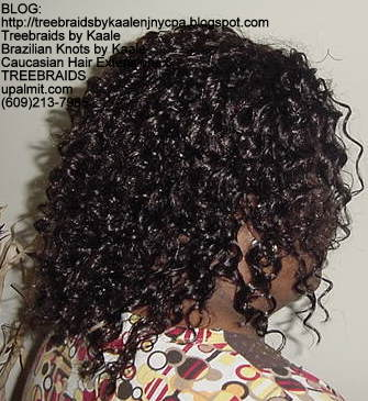 Tree Braids using Wavy human hair Right316.