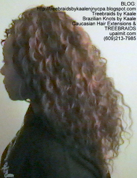 Tree Braids with KAALE Brand Deep Bulk human hair Left347.
