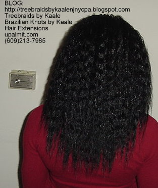 Wavy Tree Braids- Mediumsmall- Back.