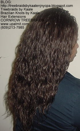Cornrow Tree Braids Loose Wavy hair Right190.