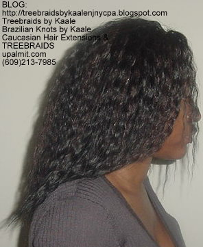 Tree Braids using KAALE Brand Wet n Wavy Tangle Free hair Right292.