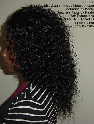 Cornrow Tree Braids Loose Wavy hair Left194.