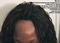 Tree Braids- Cornrows with Kaale brand loose Wet n Wavy human hair, Long Top2390.
