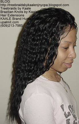 Tree Braids with Wavy Hair
