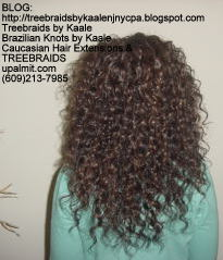 Tree Braids- Deep Wavy human hair Back2221.