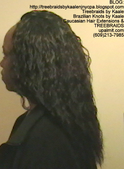 Tree Braids Cornrows, Wet and Wavy human hair- Left2296.