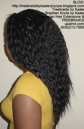 Tree Braids using KAALE Brand Wet n Wavy Tangle Free hair Left295.