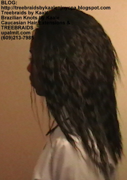 Tree Braids with KAALE Brand Wet n Wavy loose wave human hair Left351.