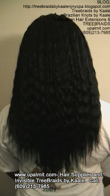 Tree Braids with KAALE Brand Wet n Wavy own human hair Back362.