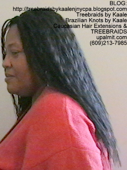Tree Braids- with Wet n Wavy human hair Left2244.