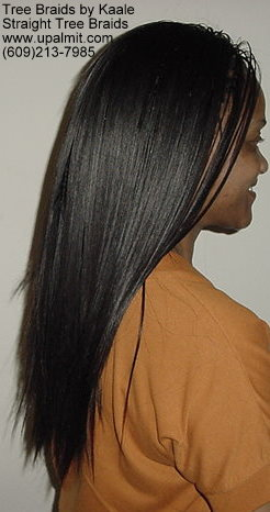 Straight TreeBraids- Right side view.