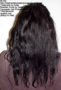 Tree Braids by Kaale- Small cornrow treebraids with virgin Brazilian real human hair Back.