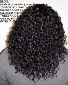 Tree Braids by Kaale- Cornrow treebraids with deep bulk hair Back.