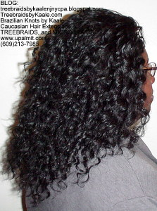 Tree Braids by Kaale- Cornrow treebraids with deep bulk hair Right.