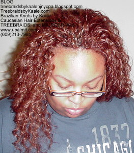 Tree Braids by Kaale- Cornrow treebraids with Invisible Hairline and deep bulk hair- Front.