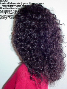 Tree Braids by Kaale- Cornrows with deep bulk hair An3 Left.