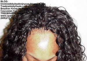 Tree Braids by Kaale- cornrows with deep bulk human hair Top2717.