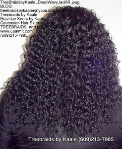 Tree Braids by Kaale- Cornrows with deep bulk hair Ma Back 1.