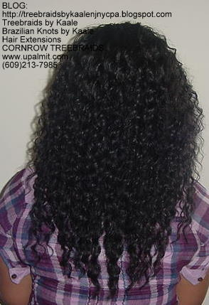 Tree Braids using KAALE Brand Deep Bulk human hair Back201.