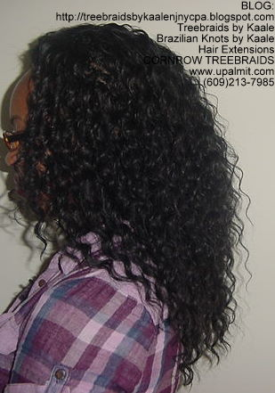 Tree Braids using KAALE Brand Deep Bulk human hair Left203.
