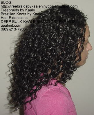 Deep Bulk Wavy KAALE Brand human hair Treebraids Right2161.