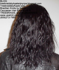 Tree Braids by Kaale- cornrow treebraids virgin Brazilian curly Remy hair, BackTall.