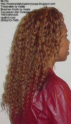 Tree Braids by Kaale- cornrow treebraids with wavy deep bulk human hair Right61616.