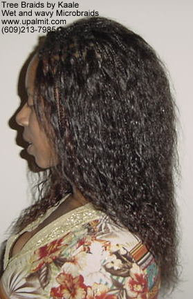 Microbraids, Left side 12.