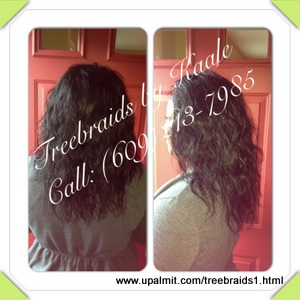 Tree Braids by Kaale- traditional cornrow treebraids in SmallMedium size pure Brazilian curly remy hair sales Front7302013.