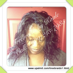 Tree Braids by Kaale- traditional cornrow treebraids in SmallMedium size pure Brazilian curly remy hair sales back, and left side73013.
