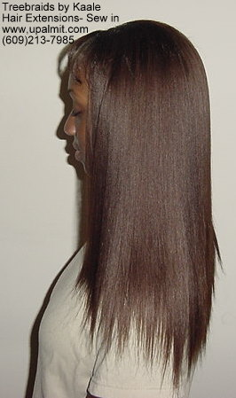 Straight hair extensions, Sewin- Back 11.