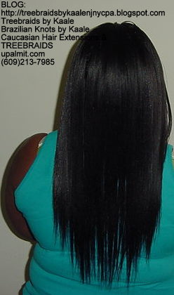 Treebraids with Wavy human hair Back2188.