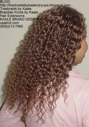Deep Bulk Wavy KAALE Brand human hair Treebraids Right2158.