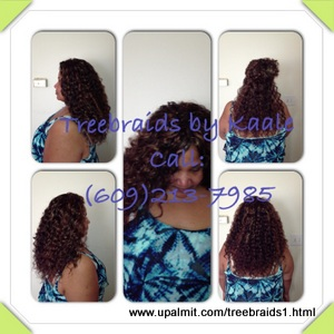 Tree Braids by Kaale- traditional cornrow treebraids in SmallMedium size, deep bulk hair used.