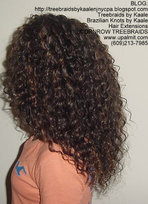 Tree Braids using KAALE Brand Deep Bulk human hair Left214.