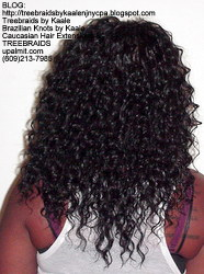 Tree Braids with KAALE Deep Bulk human hair Back375.