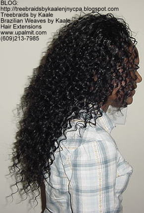Wavy cornrow tree braids, Right 111.