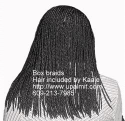 Box braids Kaales African hair braiding (609) 606-2893.