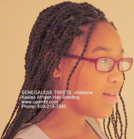 Children's long Senegalese Twists.