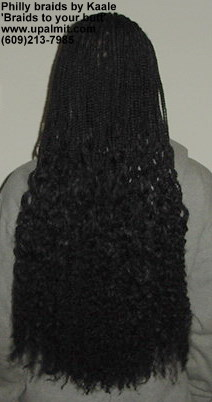Philly braids- Philadelphia long box braids, back view, 'braids to your butt'.