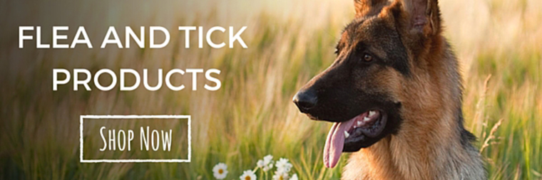 flea and tick products shop banner