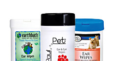 Ear and Eye wipes and pads for pets on sale