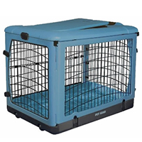 Pet Gear The Other Door Steel Crate with Plush Pad 27