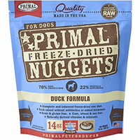 Primal Freeze Dried Duck Dog Food