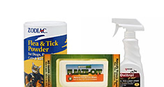 Flea and Tick Sprays, Wipes and Powders