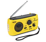 The Element Dynamo Solar Powered Radio with Flashlight AM/FM NOAA