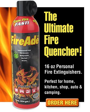 FireAde Personal Fire Extinguishers for Home & Auto