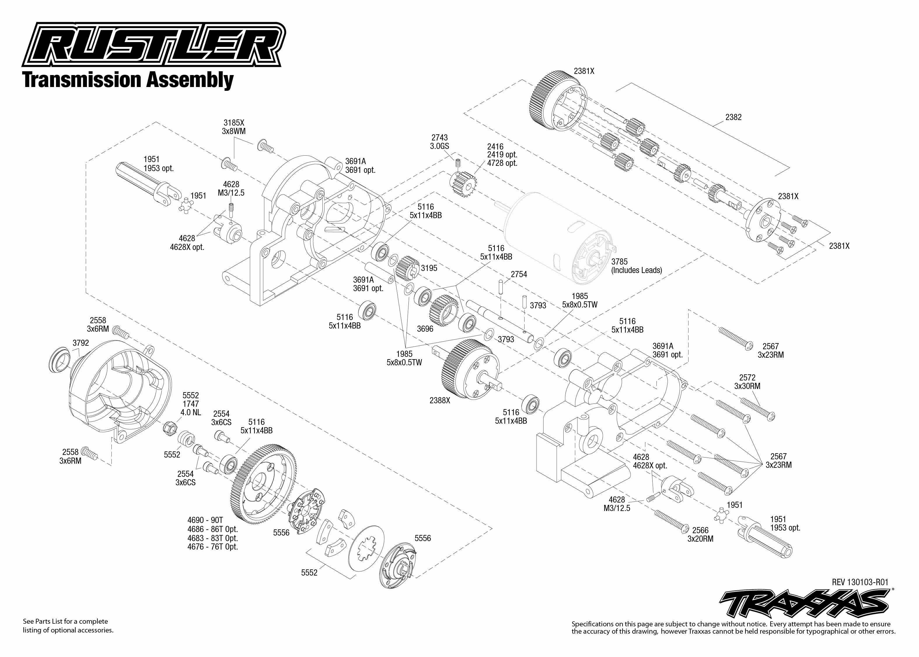 traxxas 1  10 scale rustler xl 5 2wd stadium truck 37054 traxxas slash vxl 2wd parts manual traxxas slash 2wd parts diagram