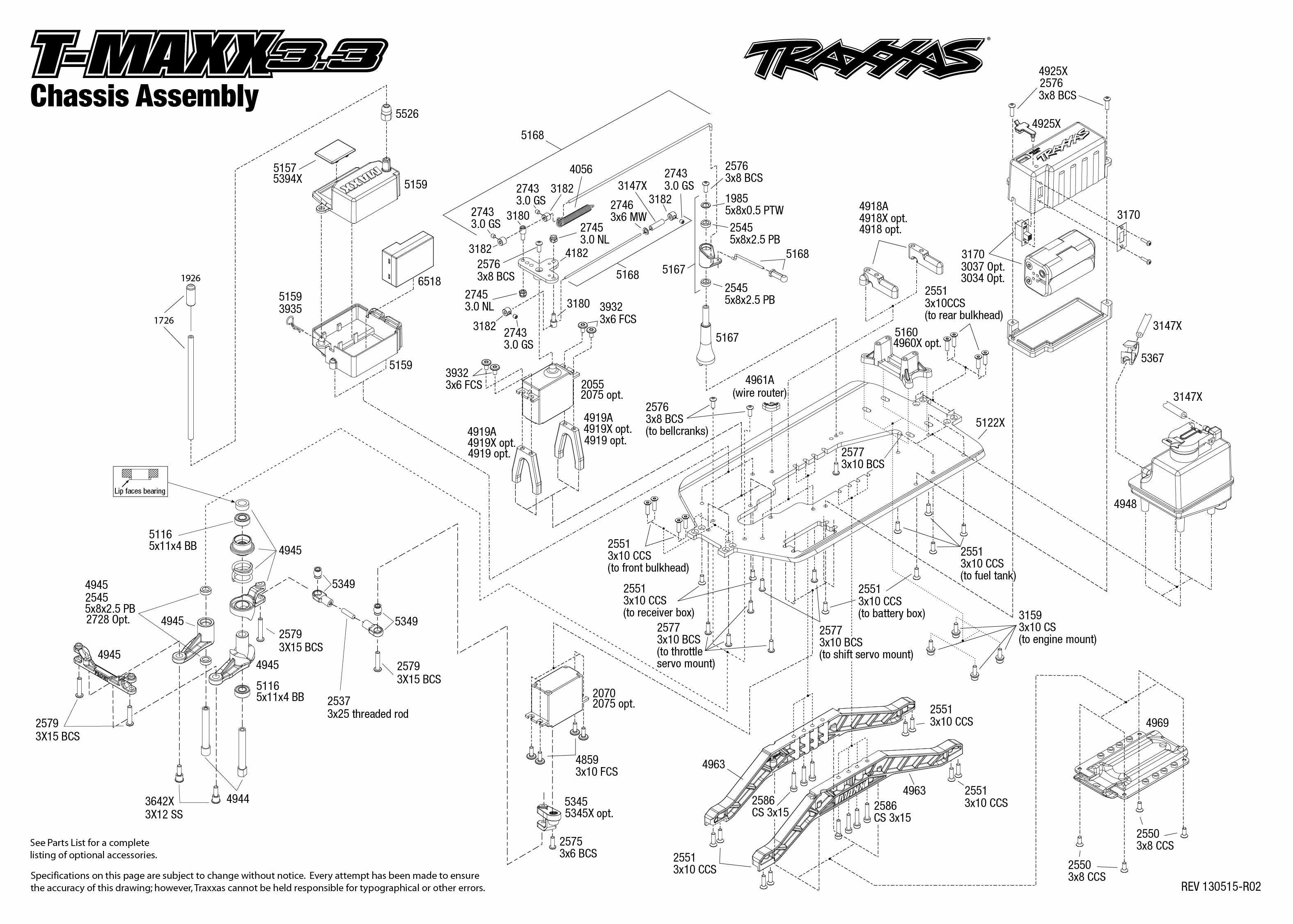 traxxas revo 3 wiring diagram traxxas revo exploded view